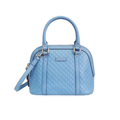 guccissima small dome bag skyblue